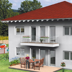 stadtvillen stadtvilla fertighaus energiesparhaus von b b haus. Black Bedroom Furniture Sets. Home Design Ideas